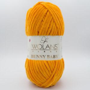 Пряжа плюшевая Wolans Bunny Baby 10025 оранжевый