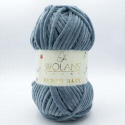 Пряжа плюшевая Wolans Bunny Baby 10030 серый джинс