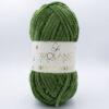 Пряжа плюшевая Wolans Bunny Baby 10032 зеленая трава