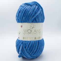 Пряжа плюшевая Wolans Bunny Baby 10035 сине-голубой