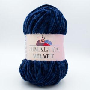 Пряжа плюшевая Himalaya Velvet 90021 темно-синий