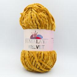 Пряжа плюшевая Himalaya Velvet 90030 горчичный