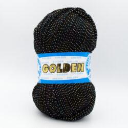 Пряжа Madame Golden 999 черный с люрексом