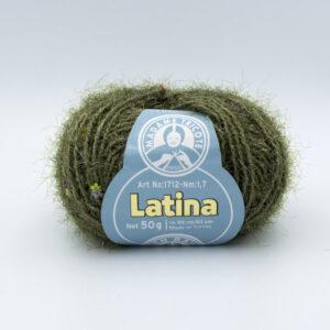 Пряжа Madame Tricote Latina 904 зеленый с люрексом и паетками