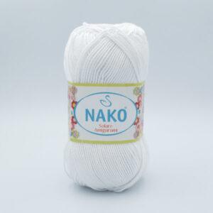 Пряжа Nako Solare Amigurumi 208 белый