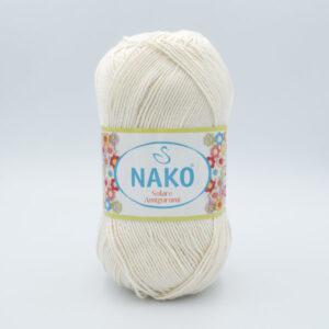 Пряжа Nako Solare Amigurumi 3782 молочный