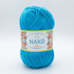 Пряжа Nako Solare Amigurumi 6954 голубая бирюза