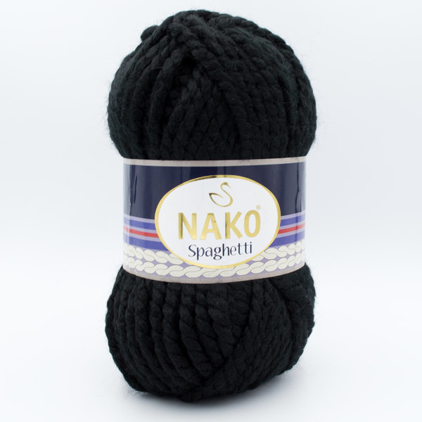 Пряжа Nako Spaghetti 217 черный