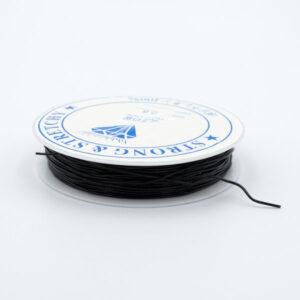 Леска-резинка черная 0.8 мм