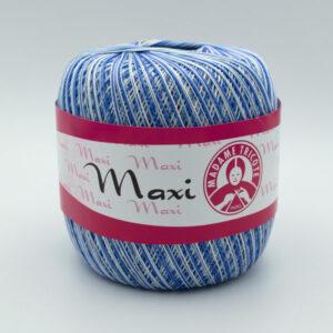 Пряжа Madame Tricote Maxi 5355 синий-белый меланж