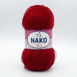 Пряжа Nako Ibiza 1175 темно-красный