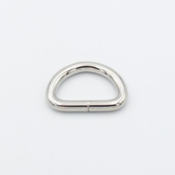 Полукольцо 3.5 см серебро