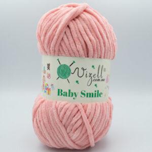 Пряжа плюшевая Vizell Baby Smile 009 светло-лососевый