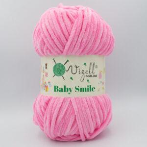 Пряжа плюшевая Vizell Baby Smile 011 розовый
