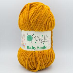 Пряжа плюшевая Vizell Baby Smile 012 горчичный