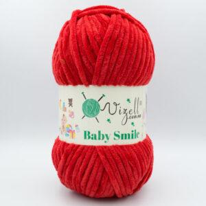 Пряжа плюшевая Vizell Baby Smile 016 красный