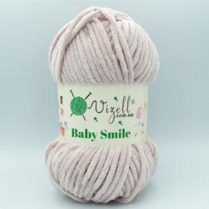 Пряжа плюшевая Vizell Baby Smile 019 светлая пудра