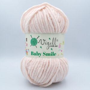 Пряжа плюшевая Vizell Baby Smile 020 светлый персик