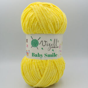 Пряжа плюшевая Vizell Baby Smile 021 желтый