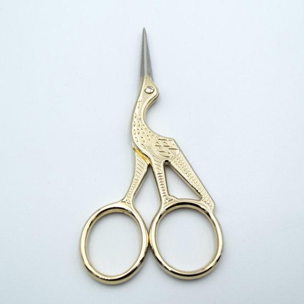 Ножницы-цапельки 11,5 см золото