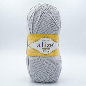 Пряжа Alize Coton Gold Plus 200 светло-серый