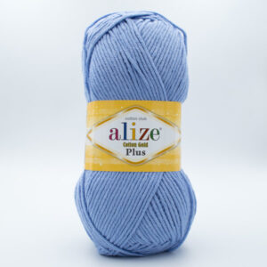 Пряжа Alize Coton Gold Plus 40 голубой