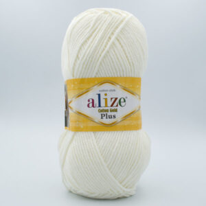 Пряжа Alize Coton Gold Plus 62 молочный