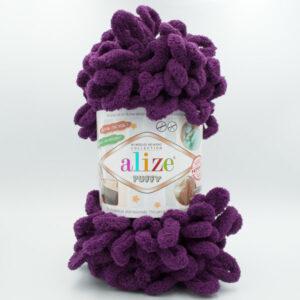 Пряжа плюшевая Alize Puffy 111 темно-фиолетовый