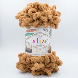 Пряжа плюшевая Alize Puffy 179 кофе с молоком