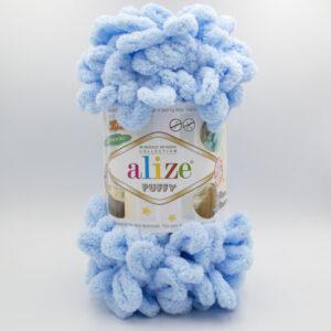 Пряжа плюшевая Alize Puffy 183 нежно-голубой