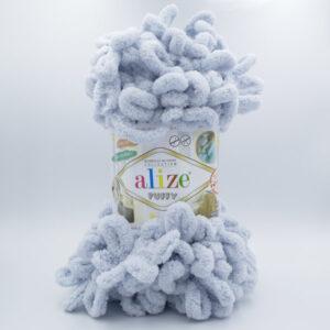 Пряжа плюшевая Alize Puffy 416 серый