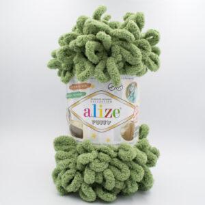 Пряжа плюшевая Alize Puffy 485 зеленый