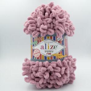 Пряжа плюшевая Alize Puffy Fine 295 сухая роза