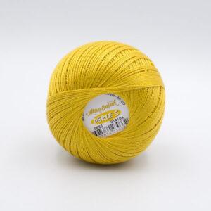 Пряжа Madame Tricote Perle 5 0633 горчично-желтый