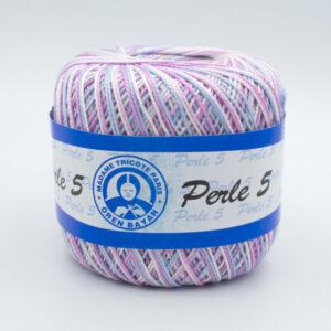 Пряжа Madame Tricote Perle 5 6053 сиреневый меланж