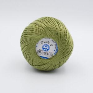Пряжа Madame Tricote Perle 5 6480 оливковый