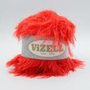 Пряжа Vizell Cha-Cha алый