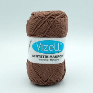 Пряжа Vizell Makrome коричневый O.KAHVE