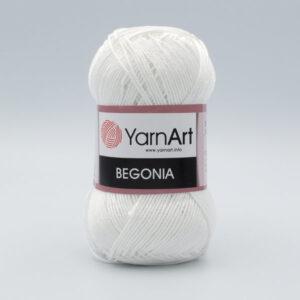 Пряжа YarnArt Begonia 1000 белый