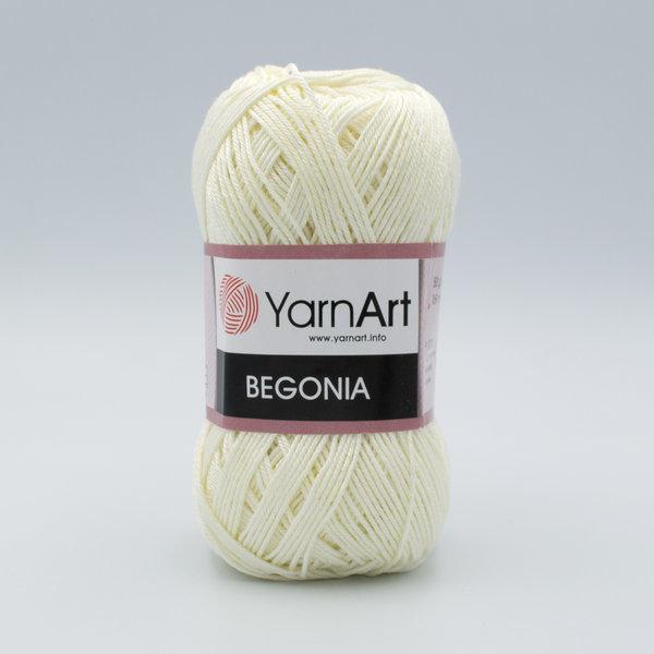 Пряжа YarnArt Begonia 326 молочный
