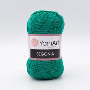 Пряжа YarnArt Begonia 6334 зеленая бирюза