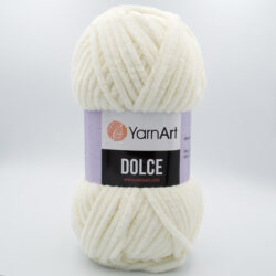 Пряжа плюшевая YarnArt Dolce 745 молочный