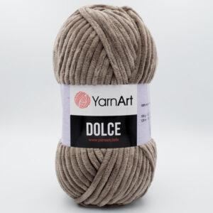 Пряжа плюшевая YarnArt Dolce 754 серо-коричневый