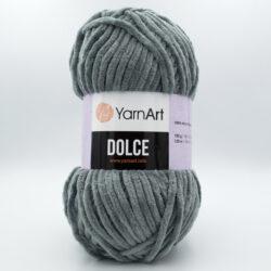 Пряжа плюшевая YarnArt Dolce 760 темно-серый