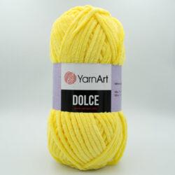 Пряжа плюшевая YarnArt Dolce 761 желтый