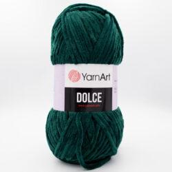 Пряжа плюшевая YarnArt Dolce 772 темно-зеленый бутылочный