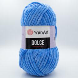 Пряжа плюшевая YarnArt Dolce 777 яркий голубой