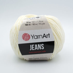 Пряжа YarnArt Jeans 03 молочный