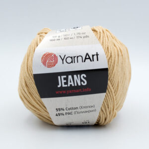 Пряжа YarnArt Jeans 07 песочно-бежевый