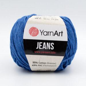 Пряжа YarnArt Jeans 17 темно-голубой джинс
